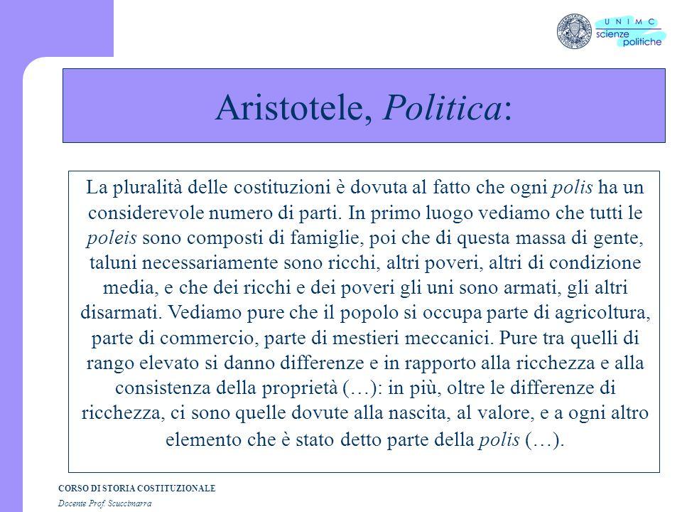 Aristotele, Politica: Le origini: