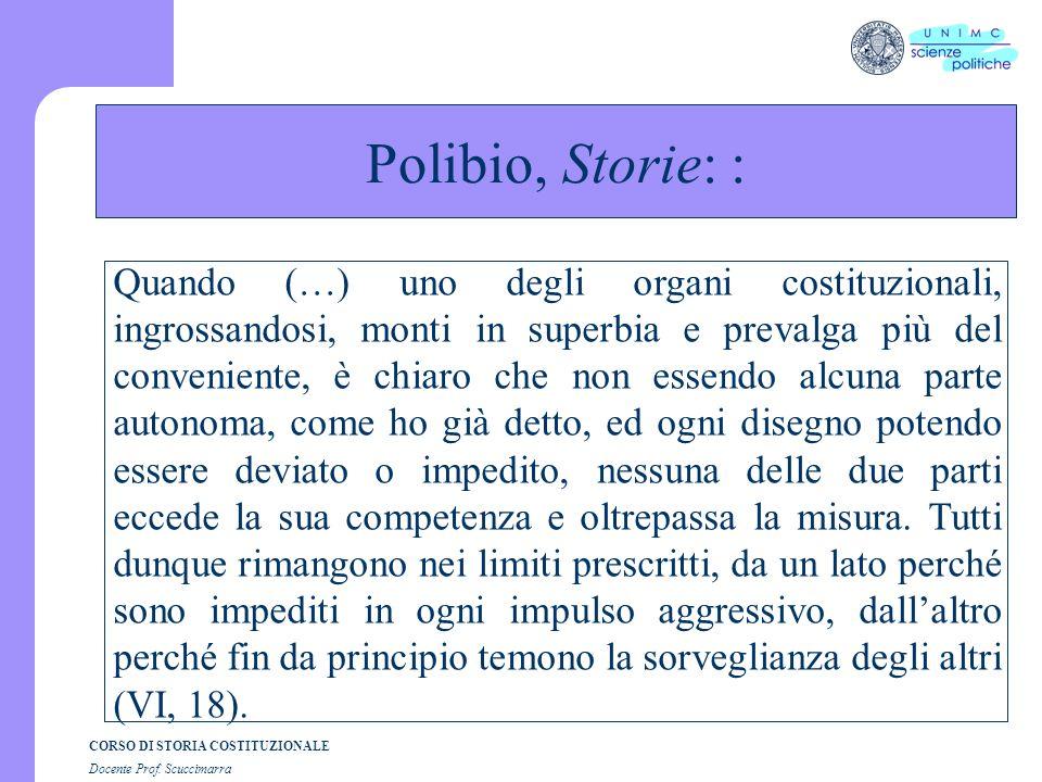 Polibio, Storie: : Le origini: