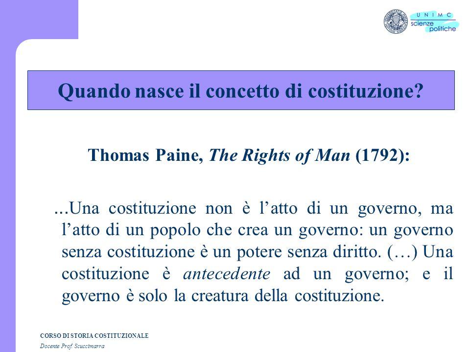 Quando nasce il concetto di costituzione