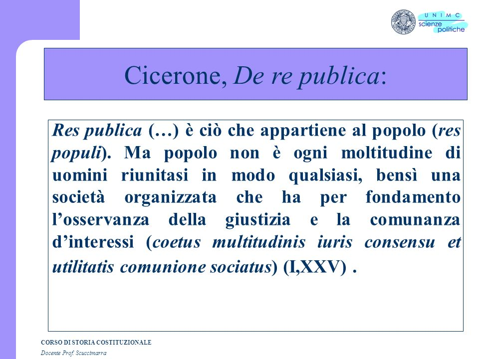 Cicerone, De re publica:
