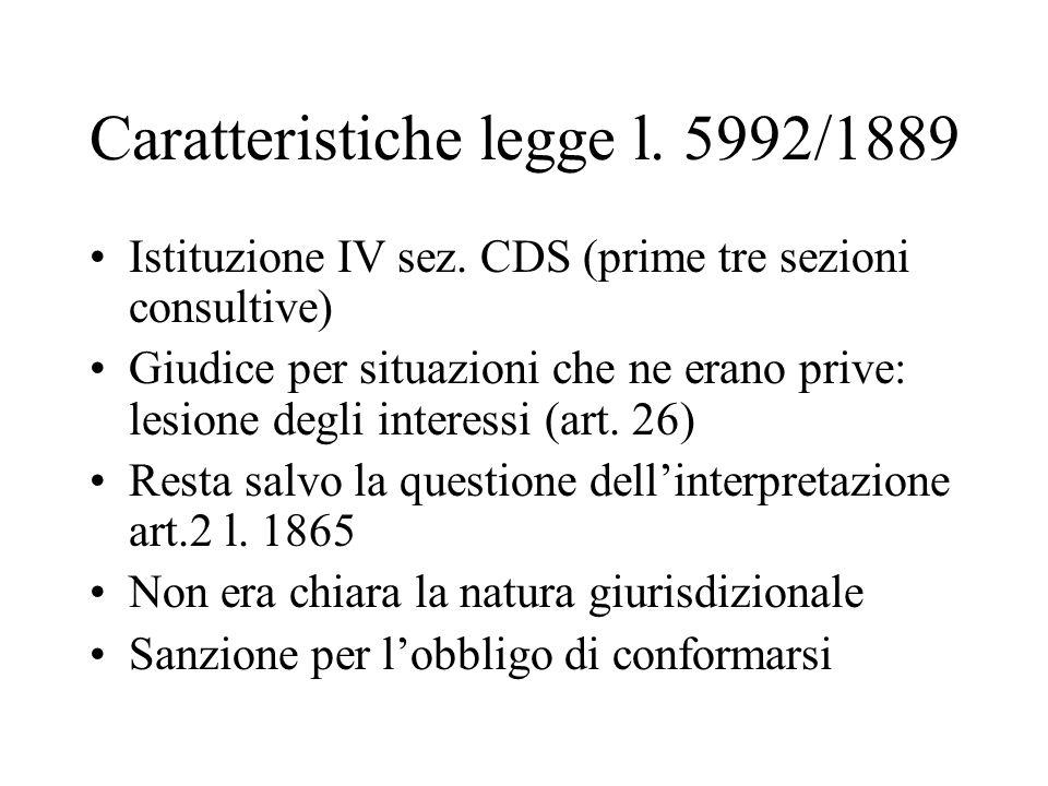 Caratteristiche legge l. 5992/1889