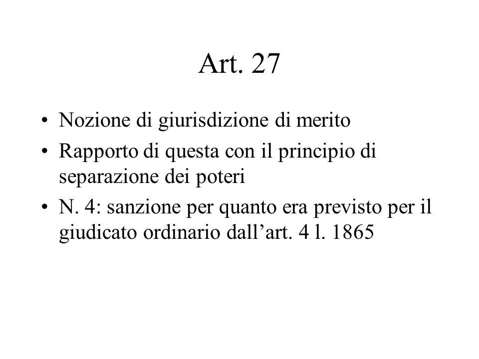 Art. 27 Nozione di giurisdizione di merito