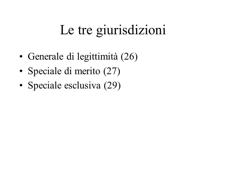 Le tre giurisdizioni Generale di legittimità (26)