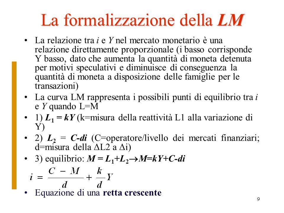 La formalizzazione della LM