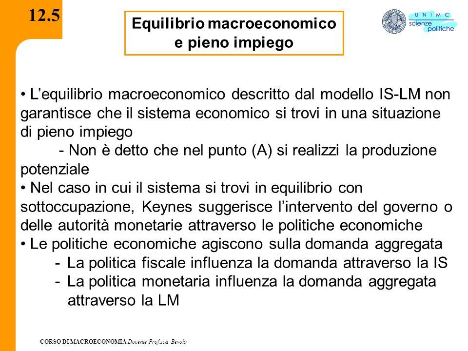Equilibrio macroeconomico e pieno impiego