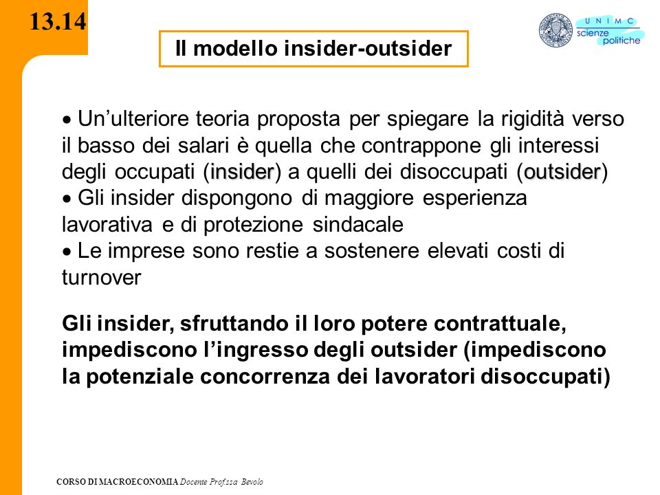Il modello insider-outsider