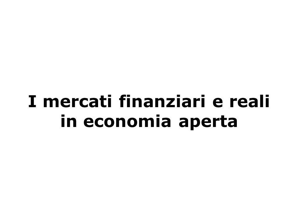 I mercati finanziari e reali in economia aperta