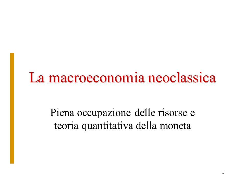 La macroeconomia neoclassica