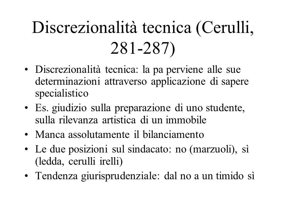 Discrezionalità tecnica (Cerulli, 281-287)