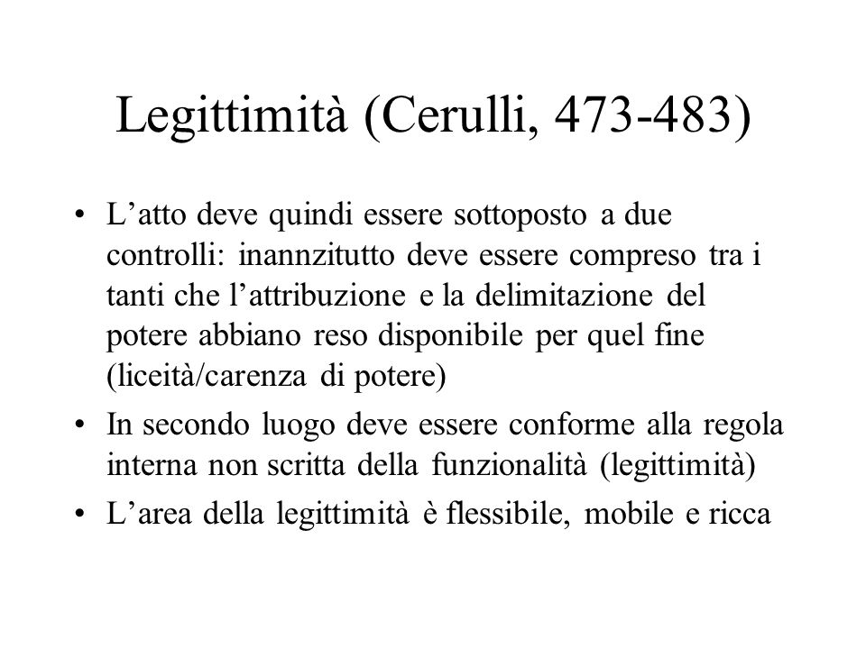 Legittimità (Cerulli, 473-483)