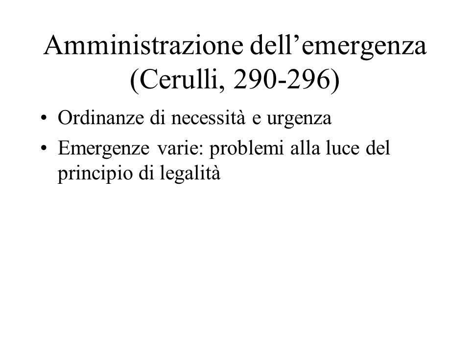 Amministrazione dell'emergenza (Cerulli, 290-296)