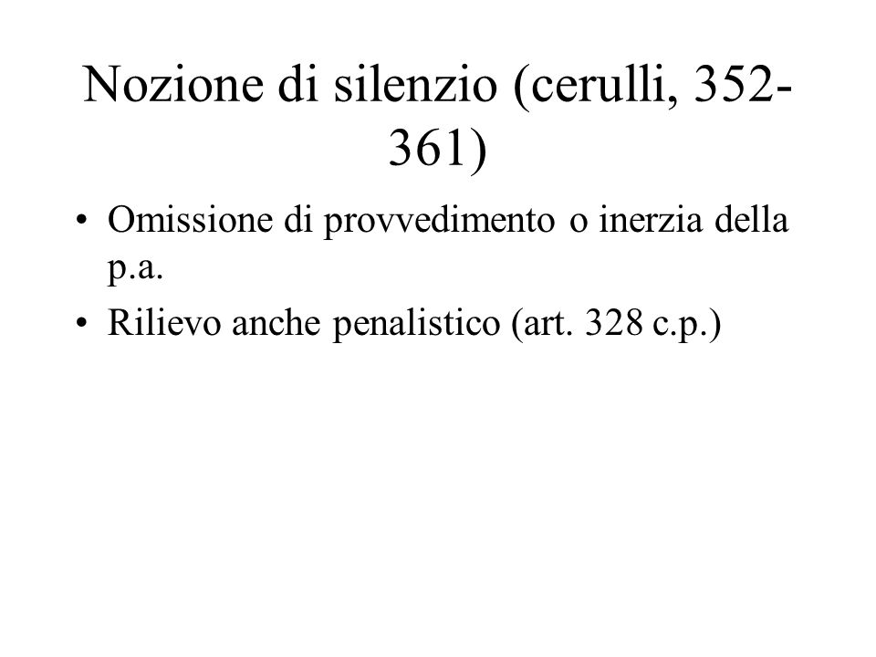 Nozione di silenzio (cerulli, 352-361)