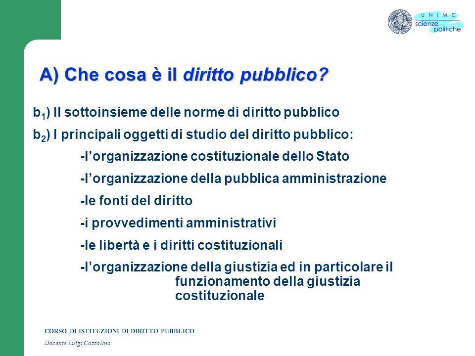 A) Che cosa è il diritto pubblico