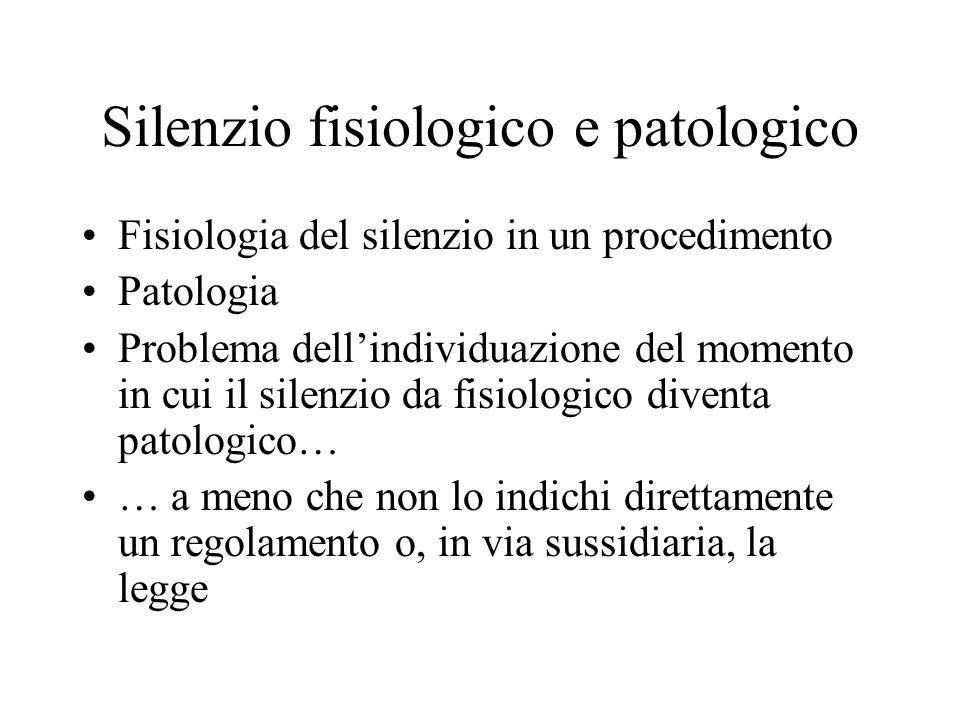 Silenzio fisiologico e patologico