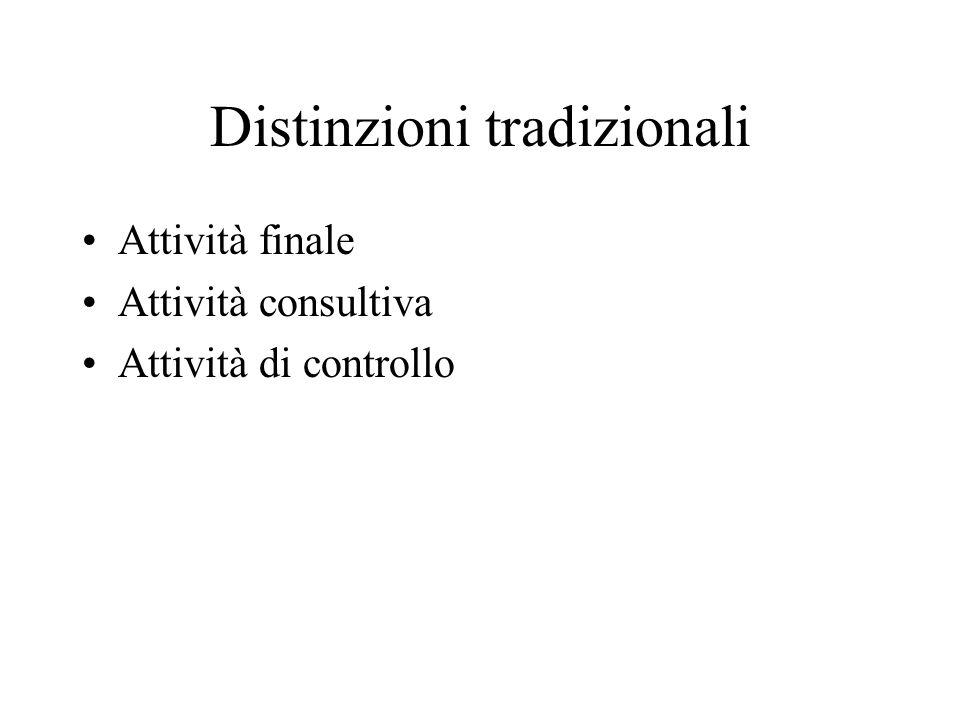 Distinzioni tradizionali