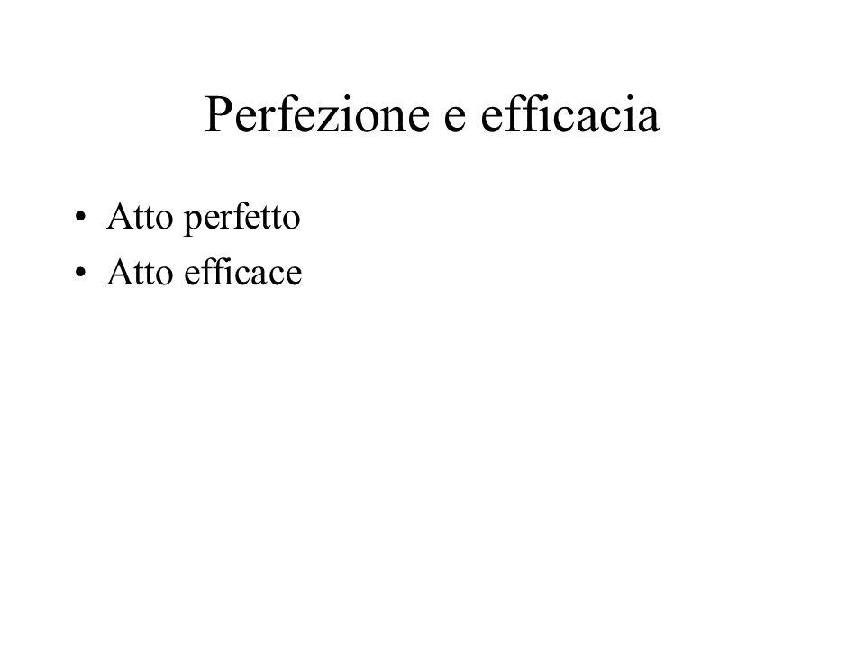 Perfezione e efficacia