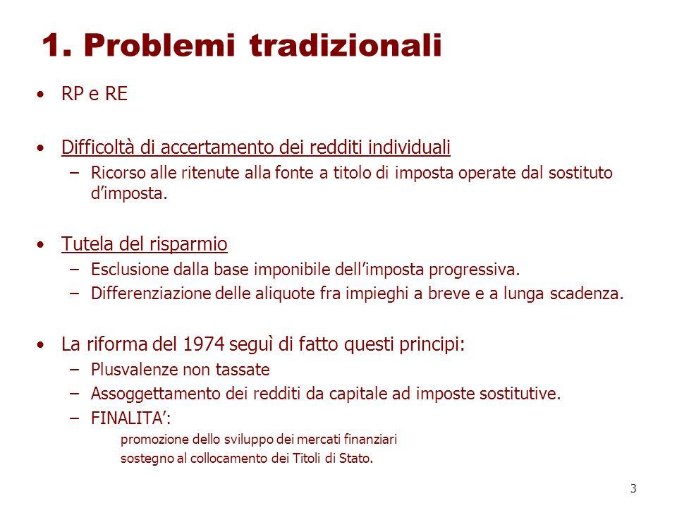 1. Problemi tradizionali