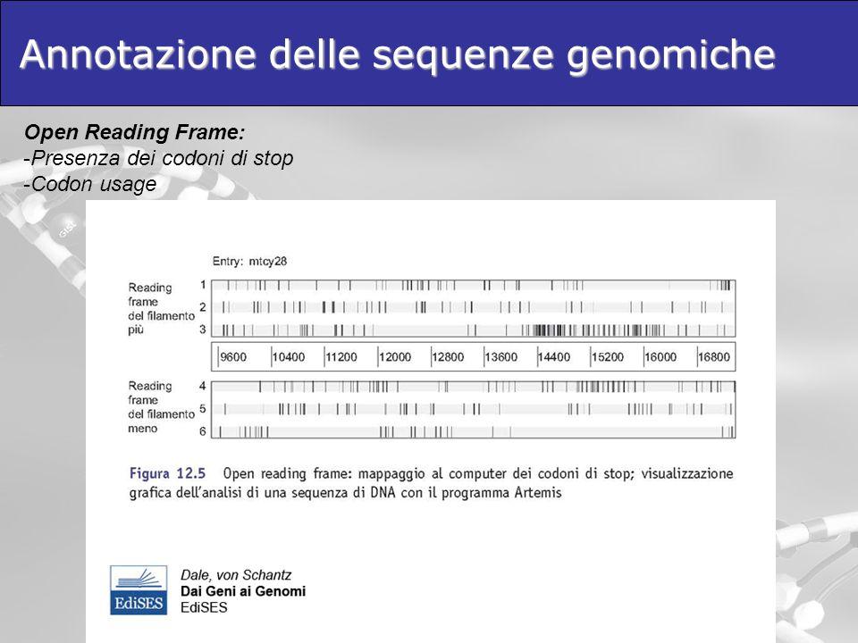 Annotazione delle sequenze genomiche