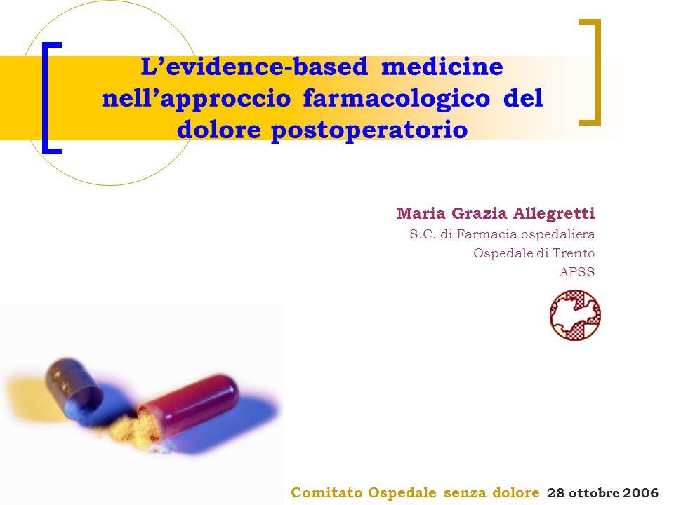 L'evidence-based medicine nell'approccio farmacologico del dolore postoperatorio
