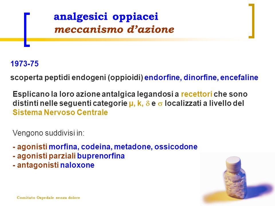 analgesici oppiacei meccanismo d'azione