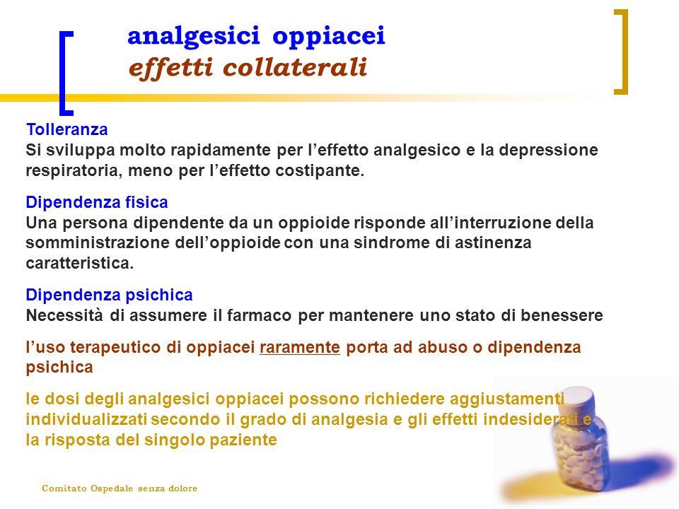 analgesici oppiacei effetti collaterali