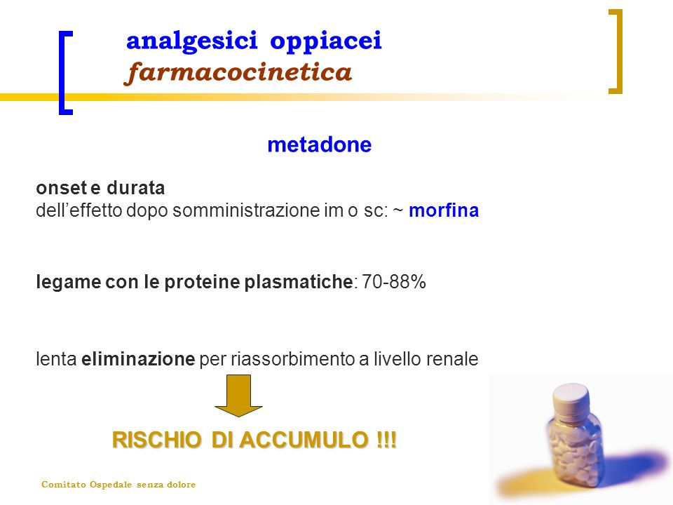 analgesici oppiacei farmacocinetica