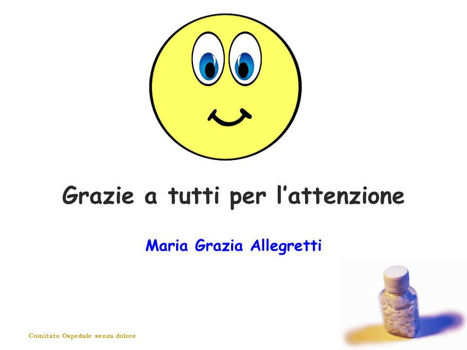 Grazie a tutti per l'attenzione Maria Grazia Allegretti
