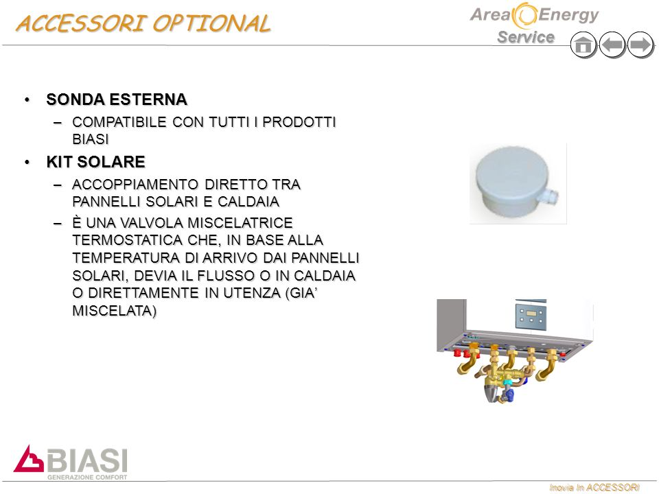 ACCESSORI OPTIONAL SONDA ESTERNA KIT SOLARE