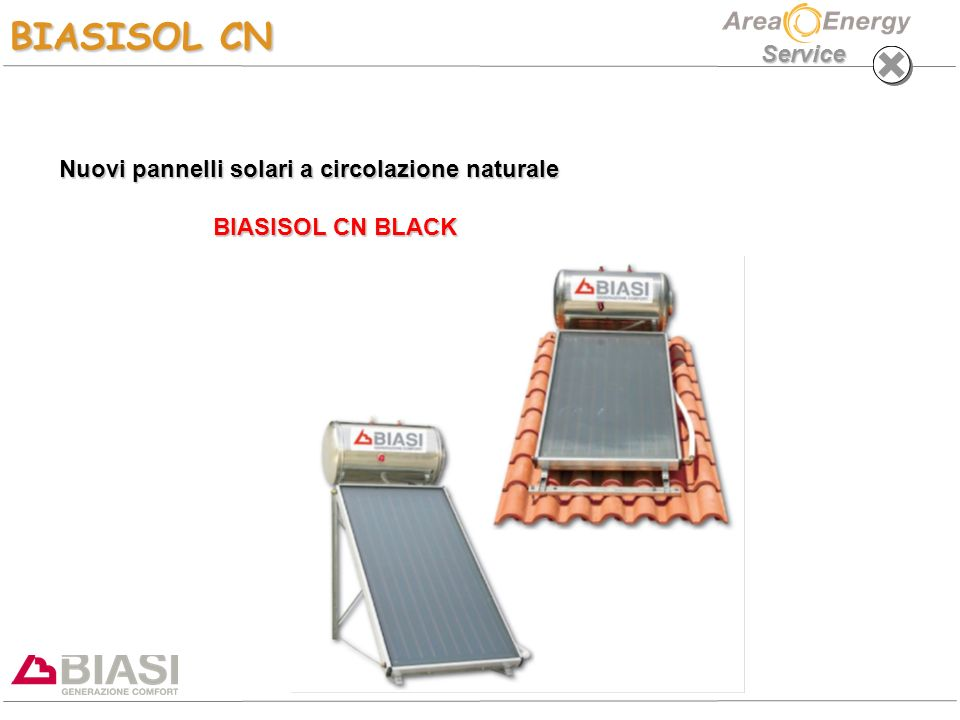 Nuovi pannelli solari a circolazione naturale BIASISOL CN BLACK