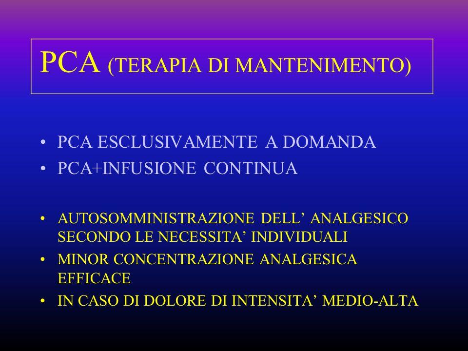 PCA (TERAPIA DI MANTENIMENTO)