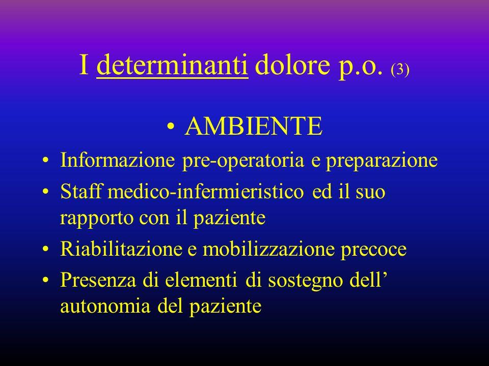I determinanti dolore p.o. (3)