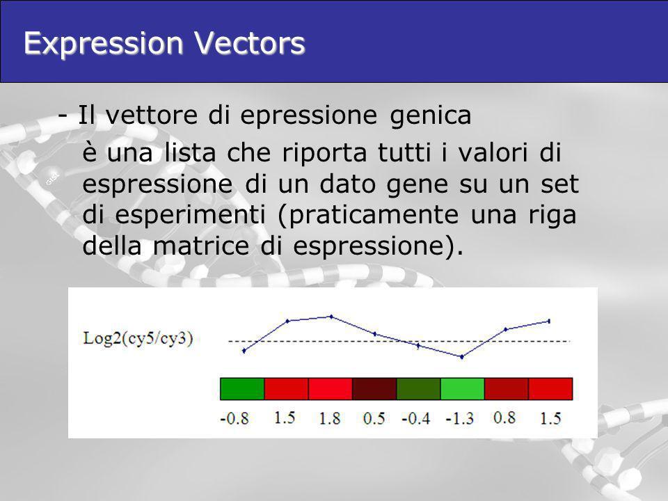 Expression Vectors - Il vettore di epressione genica
