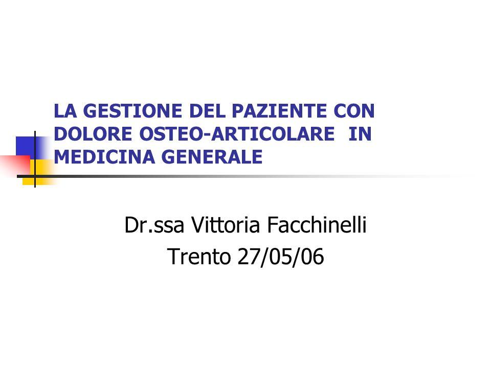 Dr.ssa Vittoria Facchinelli Trento 27/05/06