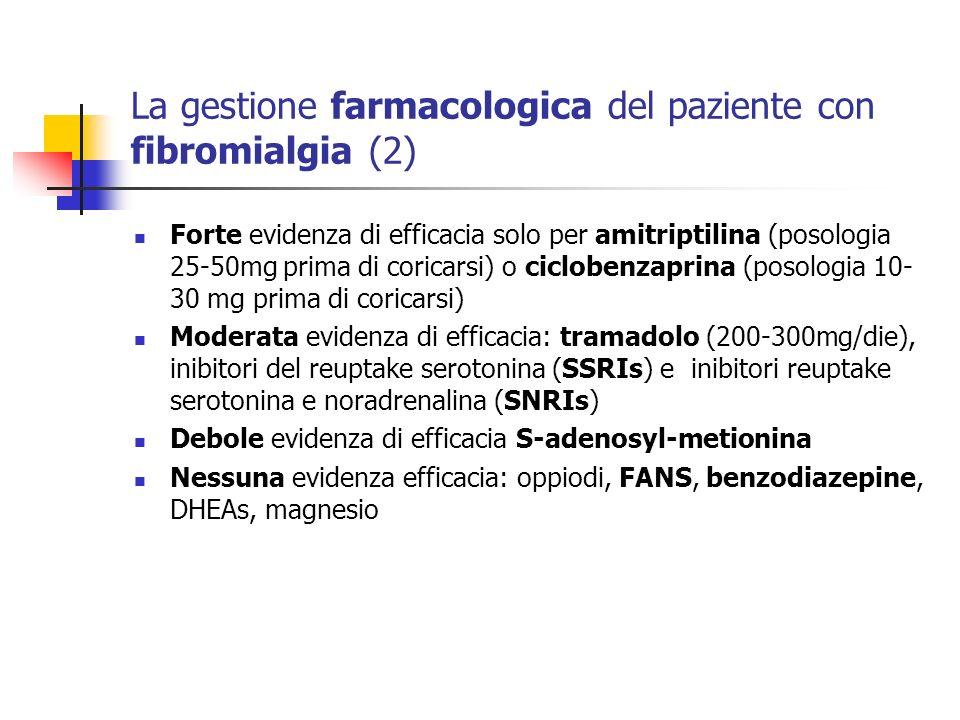 La gestione farmacologica del paziente con fibromialgia (2)