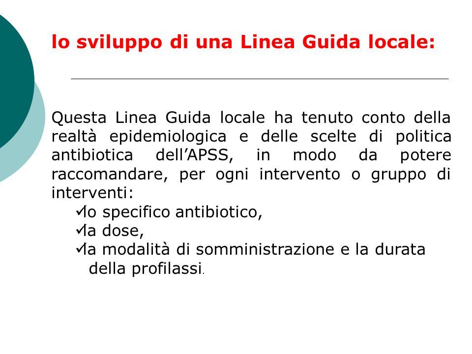 lo sviluppo di una Linea Guida locale: