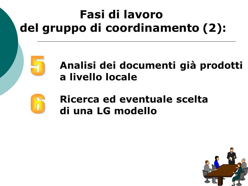 del gruppo di coordinamento (2):
