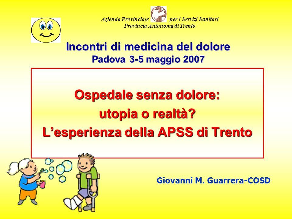 Incontri di medicina del dolore Padova 3-5 maggio 2007