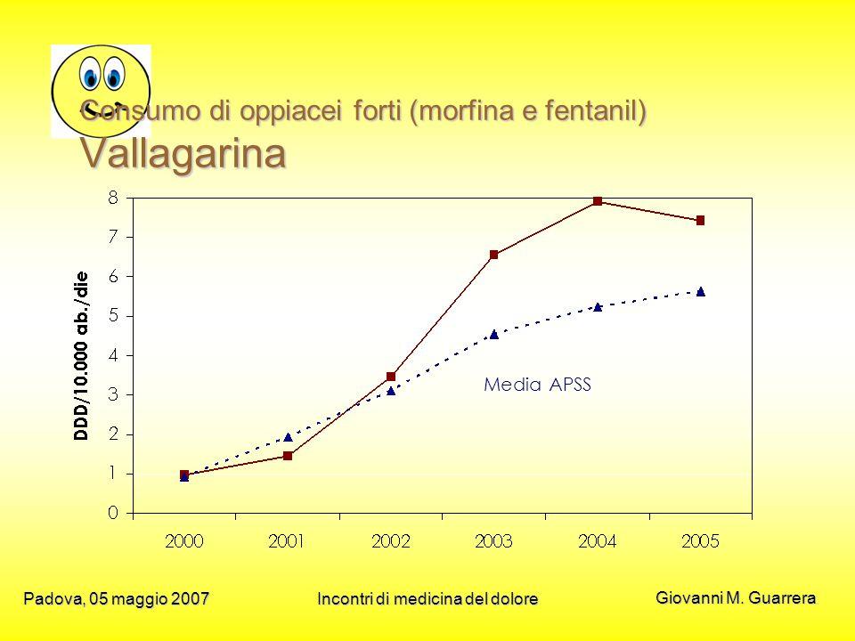 Consumo di oppiacei forti (morfina e fentanil) Vallagarina