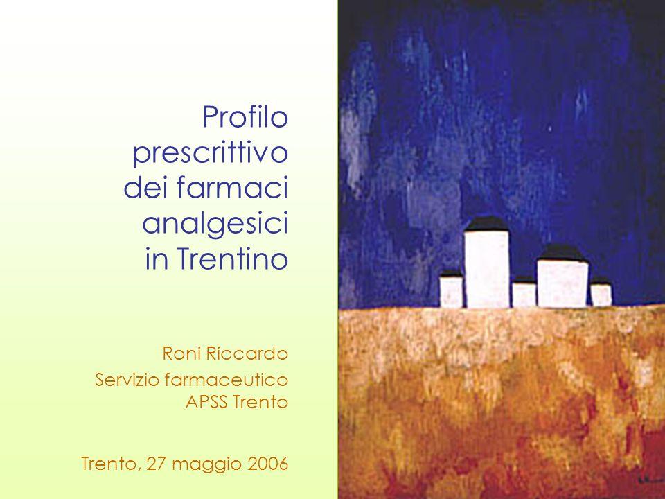 Profilo prescrittivo dei farmaci analgesici in Trentino