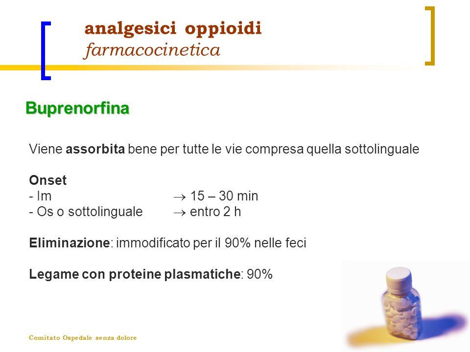 analgesici oppioidi farmacocinetica