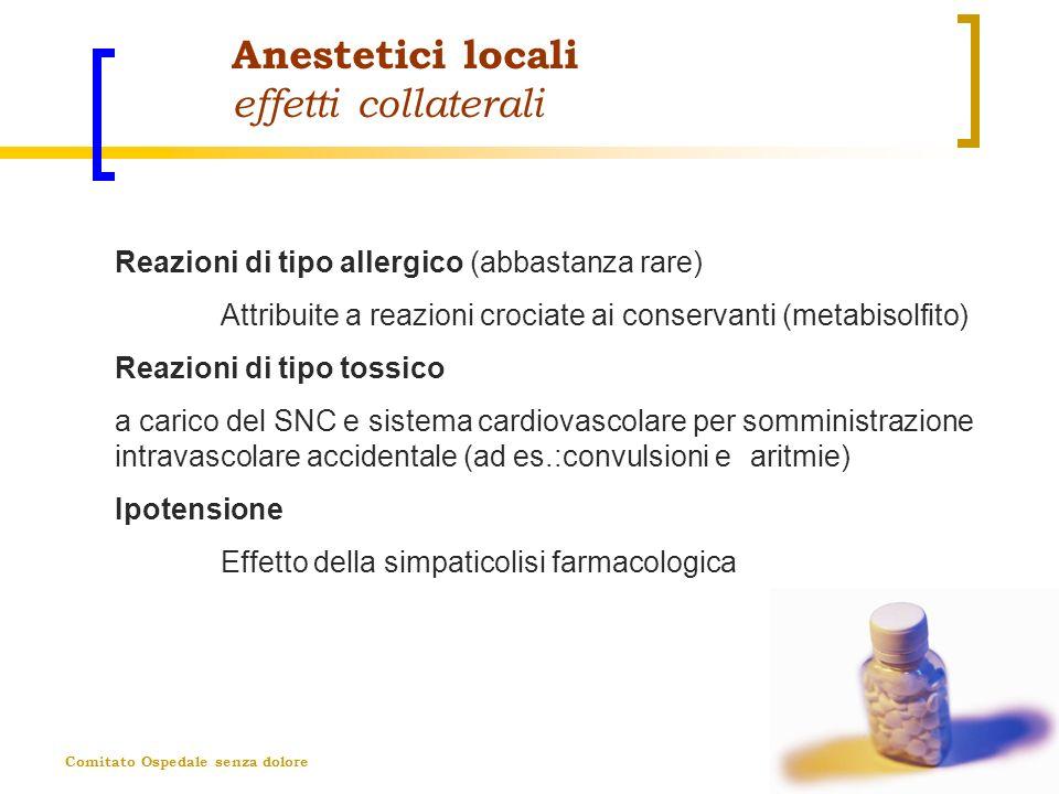 Anestetici locali effetti collaterali