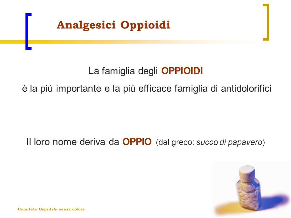 Analgesici Oppioidi La famiglia degli OPPIOIDI