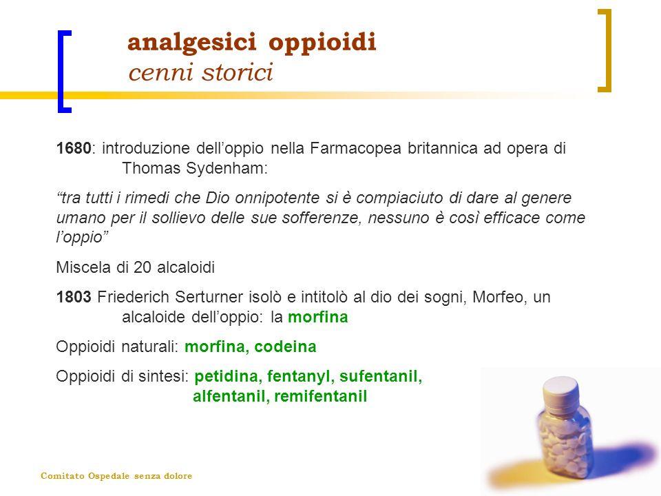 analgesici oppioidi cenni storici
