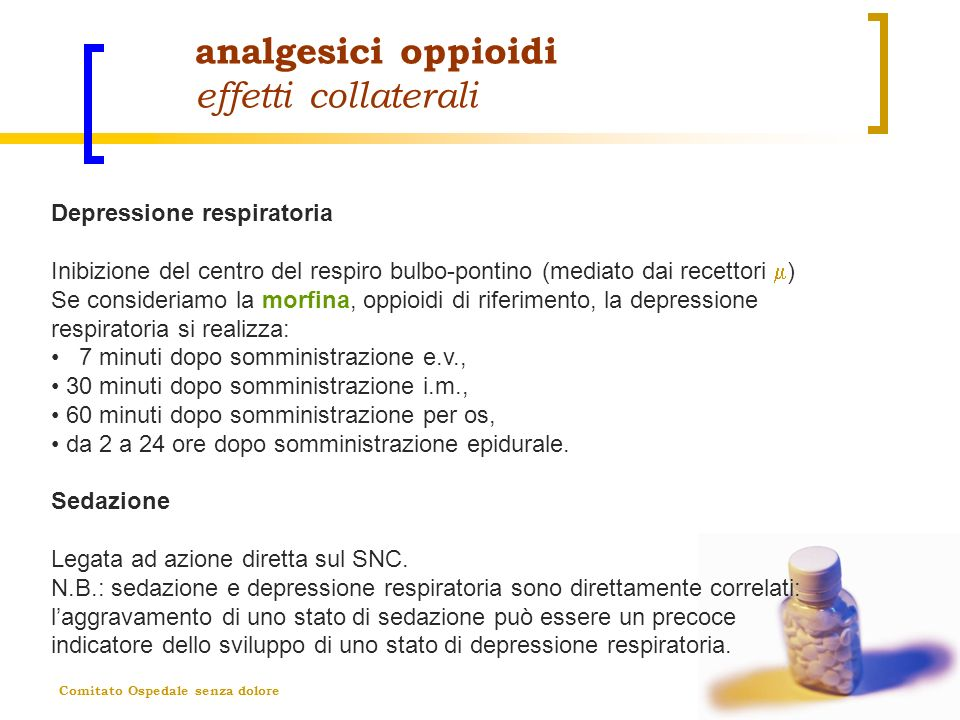 analgesici oppioidi effetti collaterali