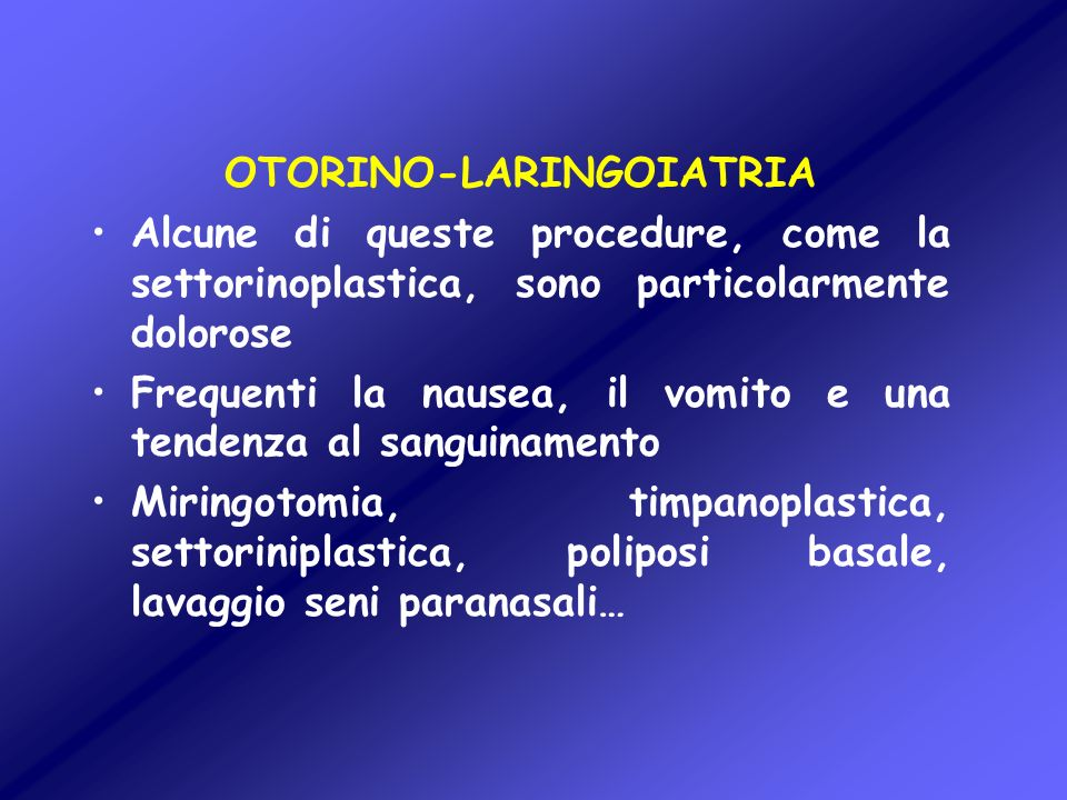 OTORINO-LARINGOIATRIA