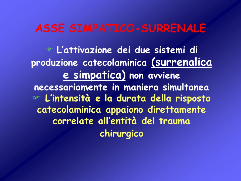 ASSE SIMPATICO-SURRENALE