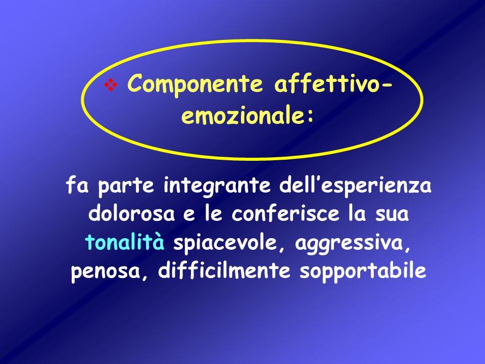 Componente affettivo-emozionale: