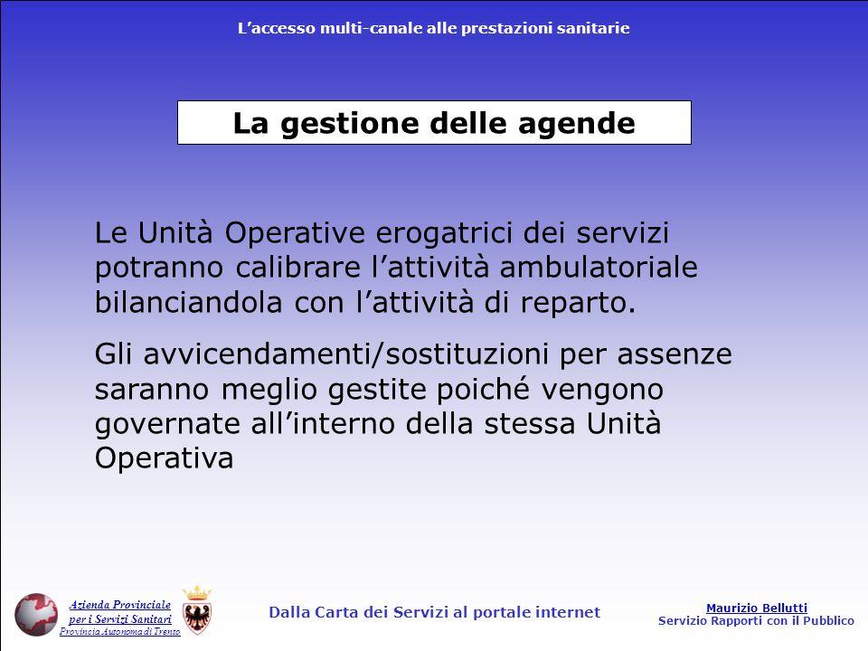 La gestione delle agende