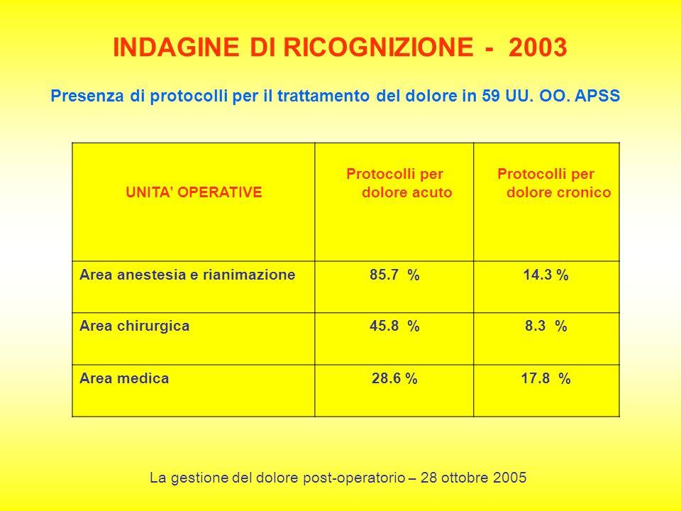 INDAGINE DI RICOGNIZIONE - 2003