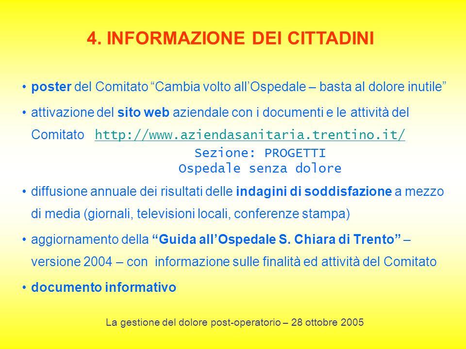 4. INFORMAZIONE DEI CITTADINI